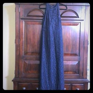 J Crew Navy Lace Long Formal